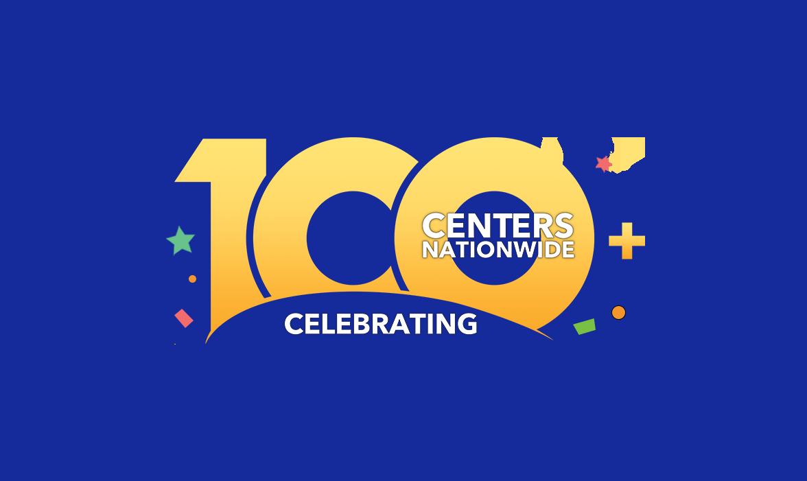 100 locations