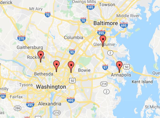 Maryland Greenbelt Center for Vein Restoration Google Maps