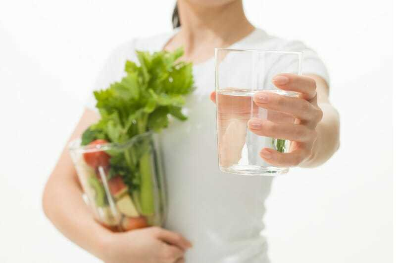 Improve circulation for vein care with veggies and water
