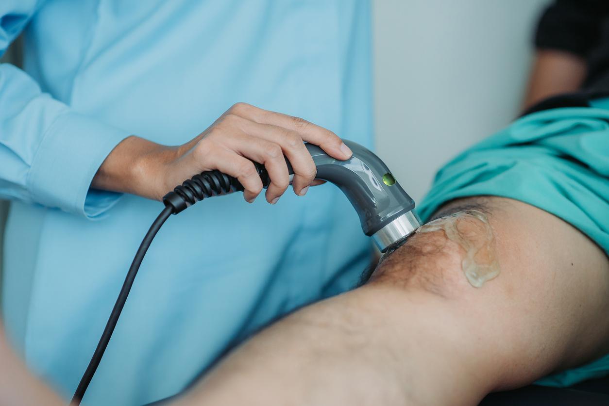 Men male leg man ultrasound