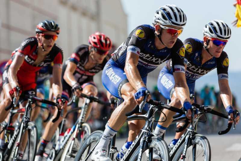 riding bikes exercising for skin