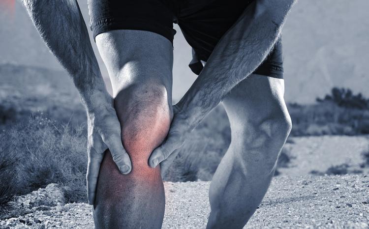 Running man blood clot leg